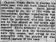 Article about Smith: R.I. Argus 11-3-1917